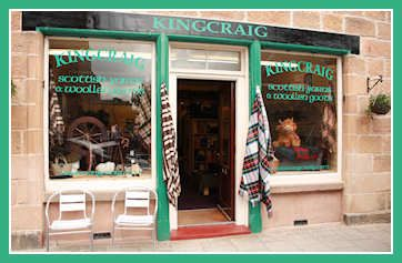 Quality woollen products from Kingcraig Fabrics in the Highlands of Scotland