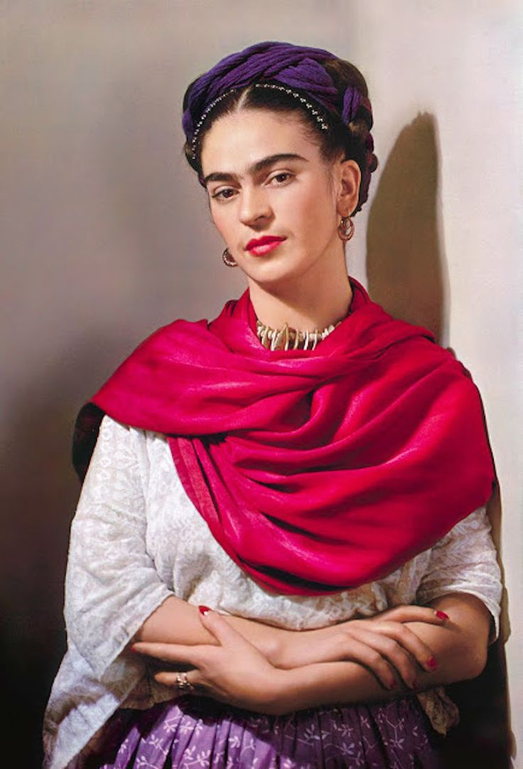 In the 1930s and 1940s, photographer Nickolas Muray shot a colorful collection of Frida Kahlo photos.