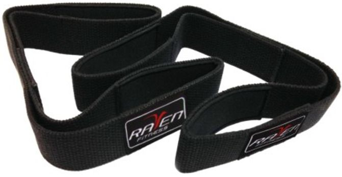 RAVEN Lifting Strap Double Loop Fitness Gym MMA Boxing Kickboxing Muaythai 1pair #RAVEN