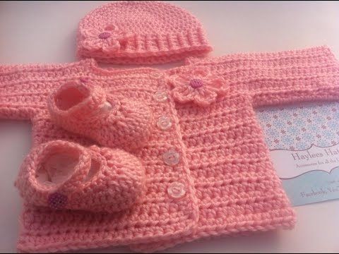 how to crochet for beginners baby costume jacket and pants free pattern tutorial by marifu6a - YouTube