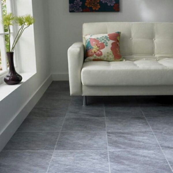 Vloertegel woonkamer grijs