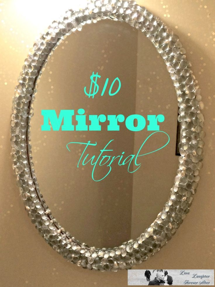 Transform your old mirror into a classy and posh one with this $10 Mirror Make Over