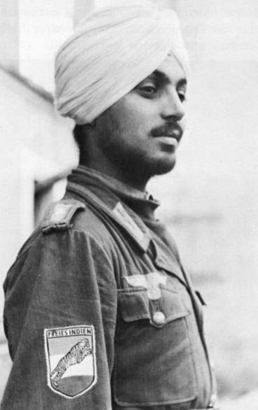 Waffen-SS volunteer, Division Azad Hind (Free India), Monte Casino, Italy, 1944                                                                                                                                                     More