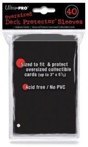 Koszulki Protektory na karty Ultra Pro Czarne Ponadwymiarowe 40 szt.