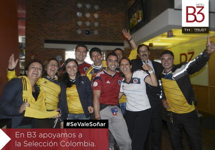 Nuestro #TeamB3 se une al sueño de todo un país! #SeValeSoñar #FifaWorldCup2014