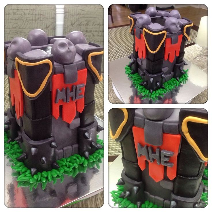 """Image 1 of 1 in forum thread """"Clash of Clan Archer Tower 3D Cake"""""""