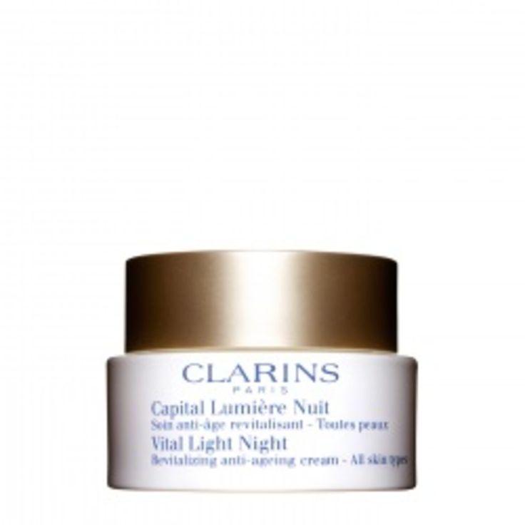 Clarins Capital Lumière Nuit TP. Deze zachte en weldadige crème is een perfecte aanvulling op de dagverzorging en revitaliseert de huid 's nachts.