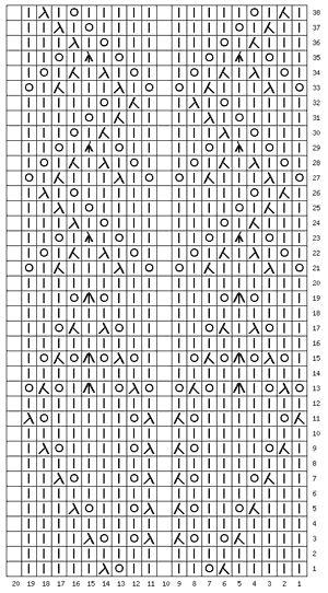 схема узора 832