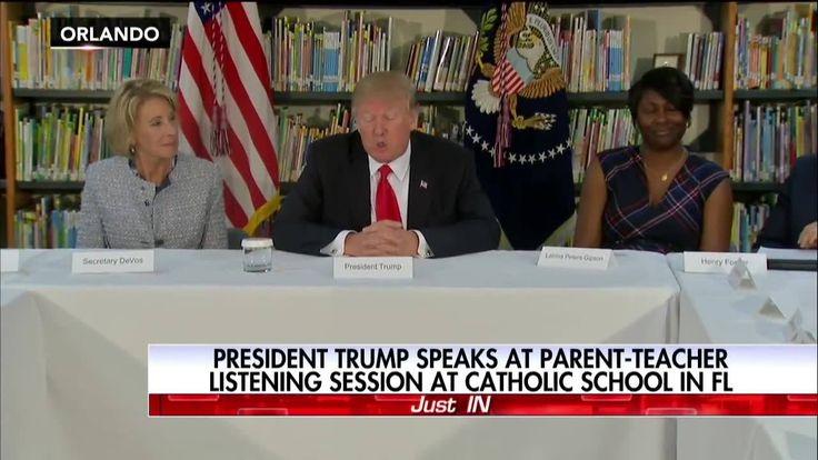 """""""We're ahead of schedule in so many ways when it comes to education.""""  Moments ago, President Donald J. Trump spoke at a parent-teacher listening session at a Catholic school in Florida."""