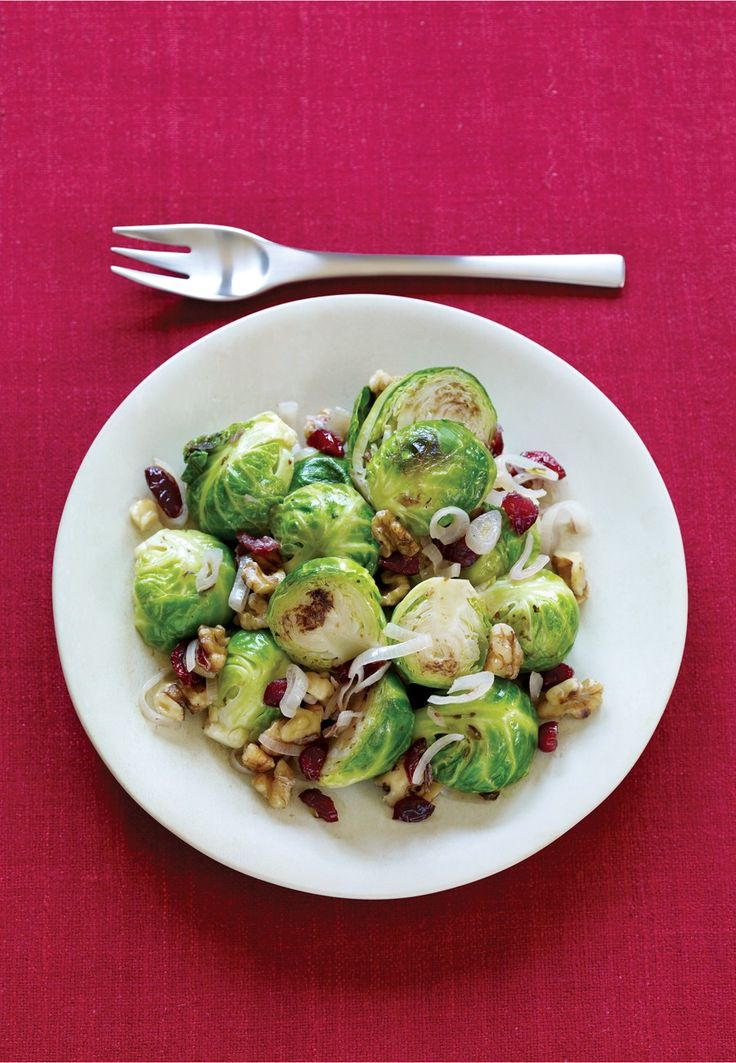 Brussels Sprouts with Walnuts and Dried Cranberries Recipe | Vegetarian Times