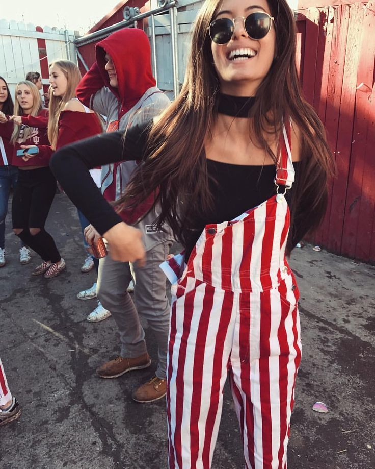 These crimson and white overalls are a game day essential for anyone in Alabama.