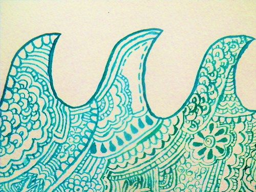 Lovely wave doodle art. This would be fun to draw sometime for the fun of it.