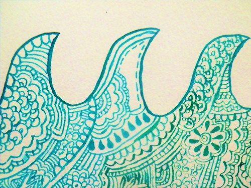 wave artOcean Waves Art, Ocean Doodle, Doodles Art, Surf Inspiration Tattoo, Art Inspiration, Artsy Doodles, A Tattoo, Waves Doodles, Surf Art Tattoo