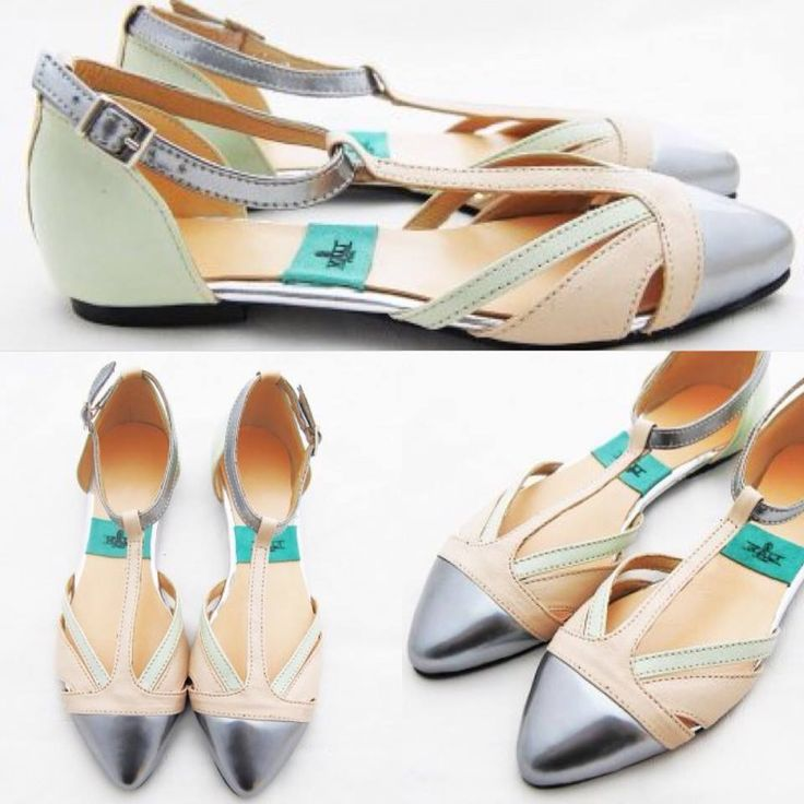 #flats #sandals #summer #shoes #mint #silver #kalishoes #fashion #women #love #fashionista  $55 available on http://kalishoes.ro/