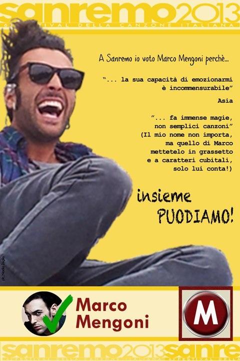 http://www.youtube.com/watch?v=gXvMQHJUBS0   Ormai il countodwn è quasi esaurito per @mengonimarco a Sanremo! #Felicità