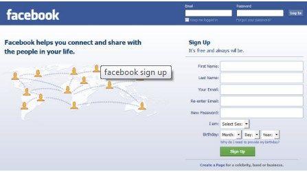 Facebook Homepage Login Page | Facebook Login Sign In Page 2018