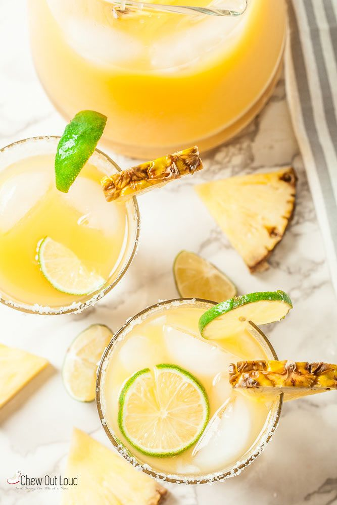 Big Batch Pineapple Margaritas 1