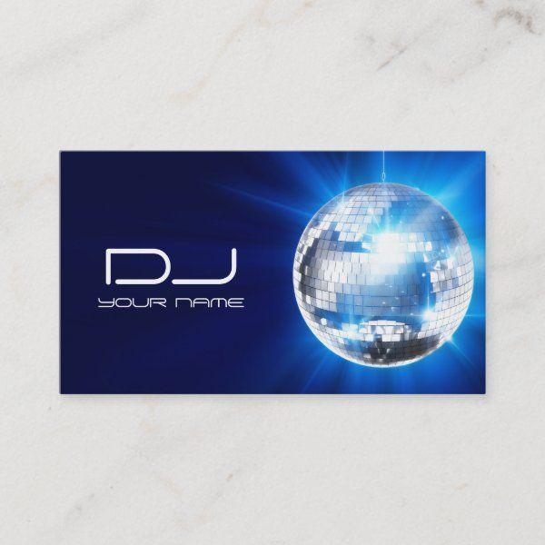 Dj Business Card Zazzle Com Dj Business Cards Customizable Business Cards Templates Music Business Cards