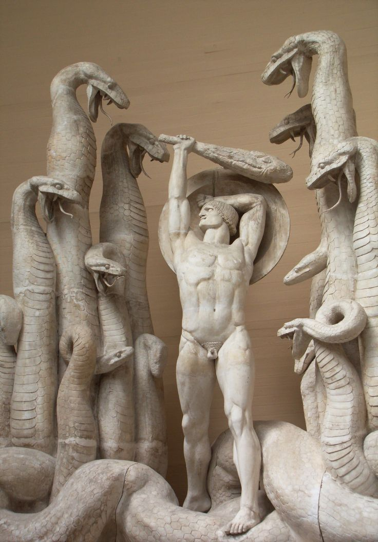 Rudolph Tegner (1873-1950): Hercules and the Hydra, 1918-19. This is part of one of Hercules' great feats. Point 11 on the hero cycle.