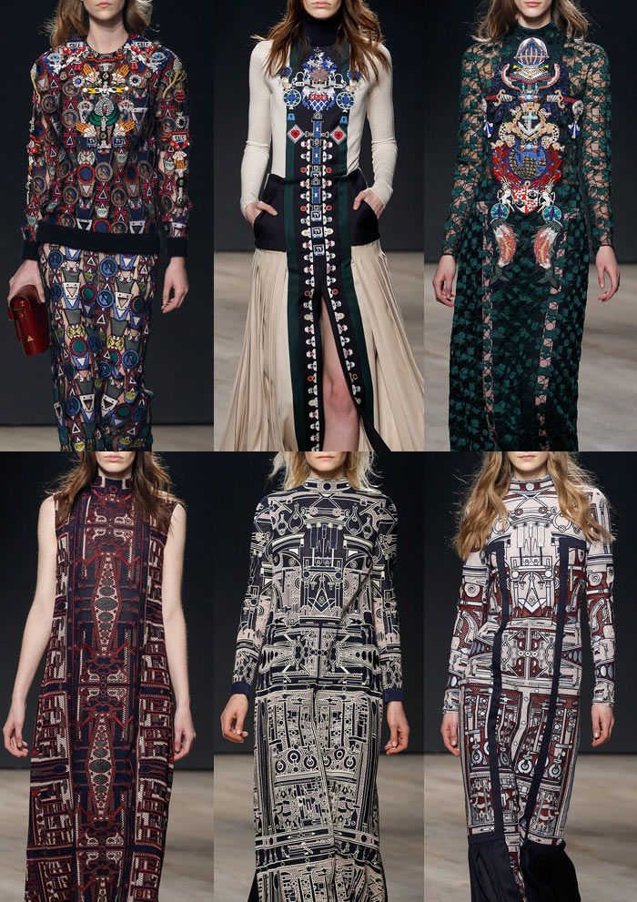 London Fashion Week – Autumn/Winter 2014/2015 – Print Highlights – Part 2 catwalks  Mary Katrantzou