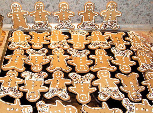 рождественское печенье «Имбирные человечки»