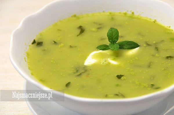 Zupa (krem) z zielonego groszku, zielony groszek, krem z zielonego groszku, wiosenna zupa, kozi ser, #food http://najsmaczniejsze.pl