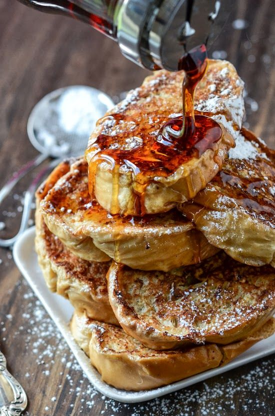Cuban Bread French Toast via The Novice Chef - secret to great French toast is stale bread!