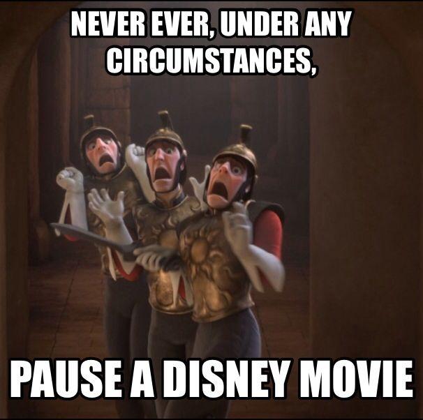 Never pause a Disney movie