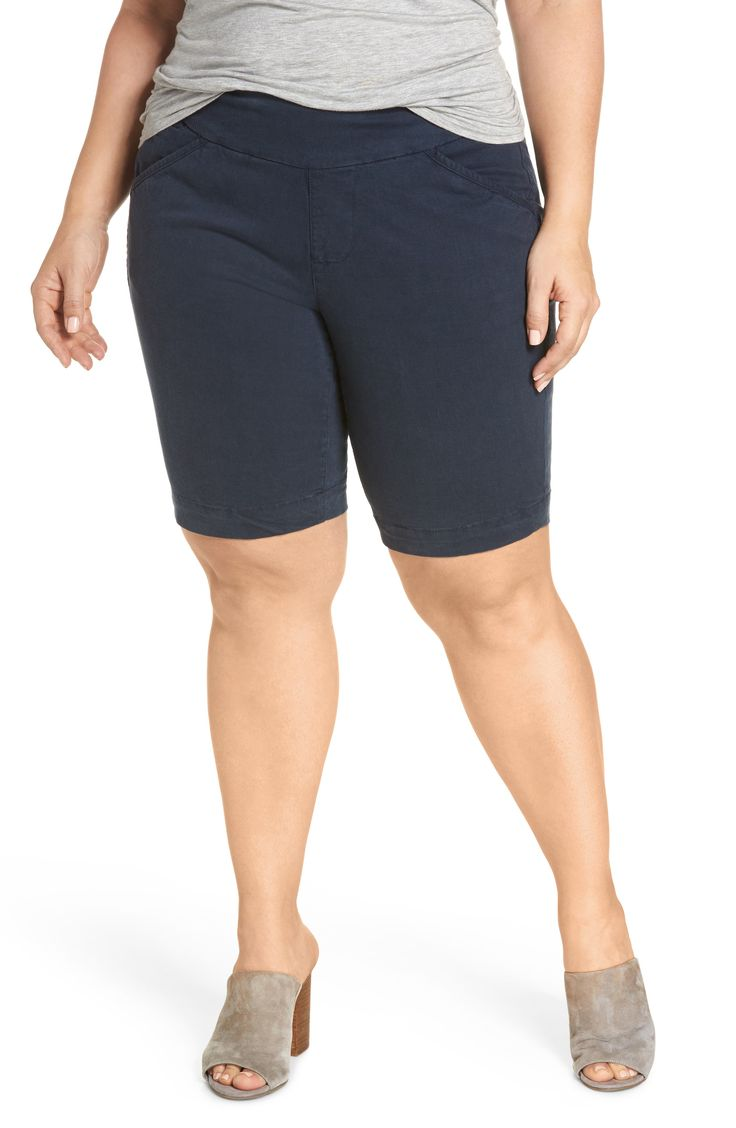 Plus Size Women's Jag Jeans Ainsley Pull-On Bermuda Shorts, Size 1