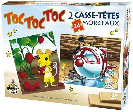 31997000948000 TocTocToc. Retrouve tes amis de l'émission Toc Toc Toc dans ces magnifiques casse-tête! Une boîte contenant deux casse-tête de 24 pièces, illustrés de la Grubule et du Magli!