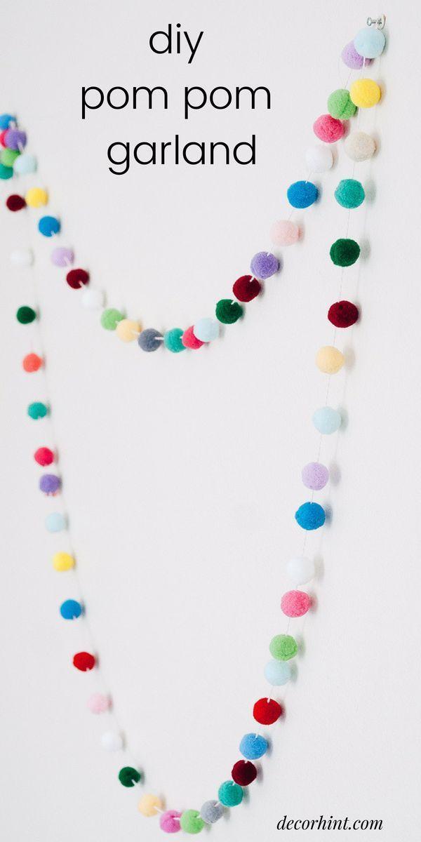 Faites cette guirlande bricolage colorée et amusante. Cela donne à votre chambre une grande pop …