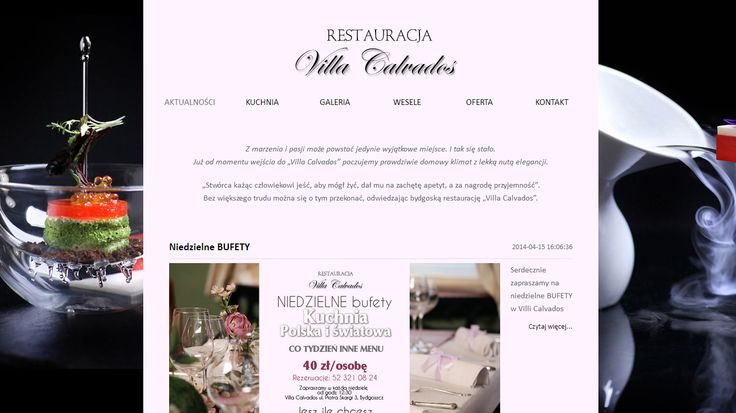Na zlecenie Dreamstudio po poprzednio dobrze wykonanym projekcie, zrealizowaliśmy dla ich klienta, stronę CMS restauracji z Bydgoszczy.