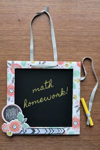 Create a DIY chalkboad. #wermemorykeepers #papercrafting #diychalkboard