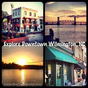 """Downtown Wilmington, NC, is filled with unique shops, restaurants and things to do! Did you know that Wilmington, NC, is called """"Hollywood East""""? Many productions have been filmed here, including """"Dawson's Creek"""" and """"Ironman 3"""". www.SeaCoastRealty.com #hollywood #wilmingtonnc #northcarolina"""