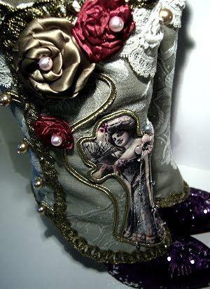 Beinstulpen - Madame Lulu Jugendstil Schmuck Gamaschen - ein Designerstück von maide bei DaWanda