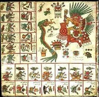 MITO AZTECA: Tonacatecuhtli tuvo por mujer a Tonacacihuatl (conocida también como Xochiquetzal). Ellos fueron señor y señora de nuestra carne y se criaron en el decimotercer cielo, de cuyo principio no se supo jamás. Engendraron a cuatro hijos