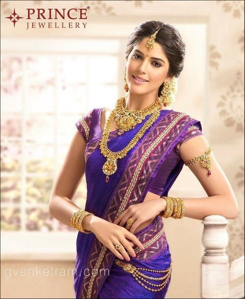 Izabelle Leite in intricately crafted, beautiful Bridal Jewellery by http://www.princejewellery.com/ Chennai #Desi