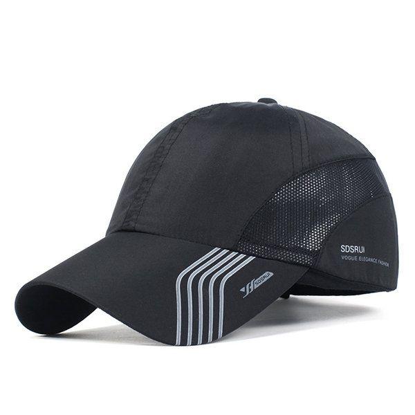 Mens Thin Breathable Quick Dry Baseball Cap Sunshade Leisure Outdoor Mesh Hat