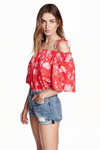 Off-the-shoulder blouse | H&M