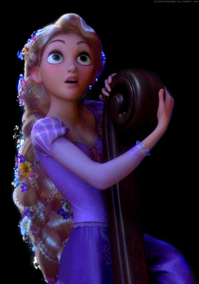 The beauty she holds. The wonder and excitement in her eyes, and the way she is clumsily amazed. Rapunzel is amazing.