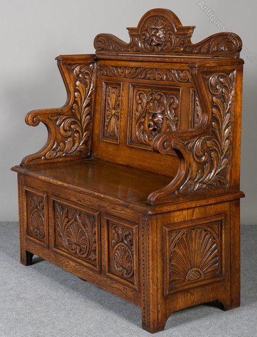 antique foyer furniture. carved oak hall bench antiques atlas antique foyer furniture s