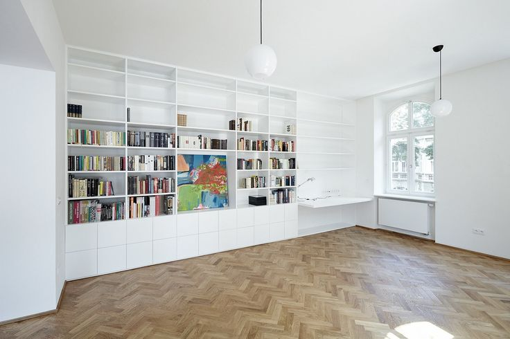 knihovna, lustry