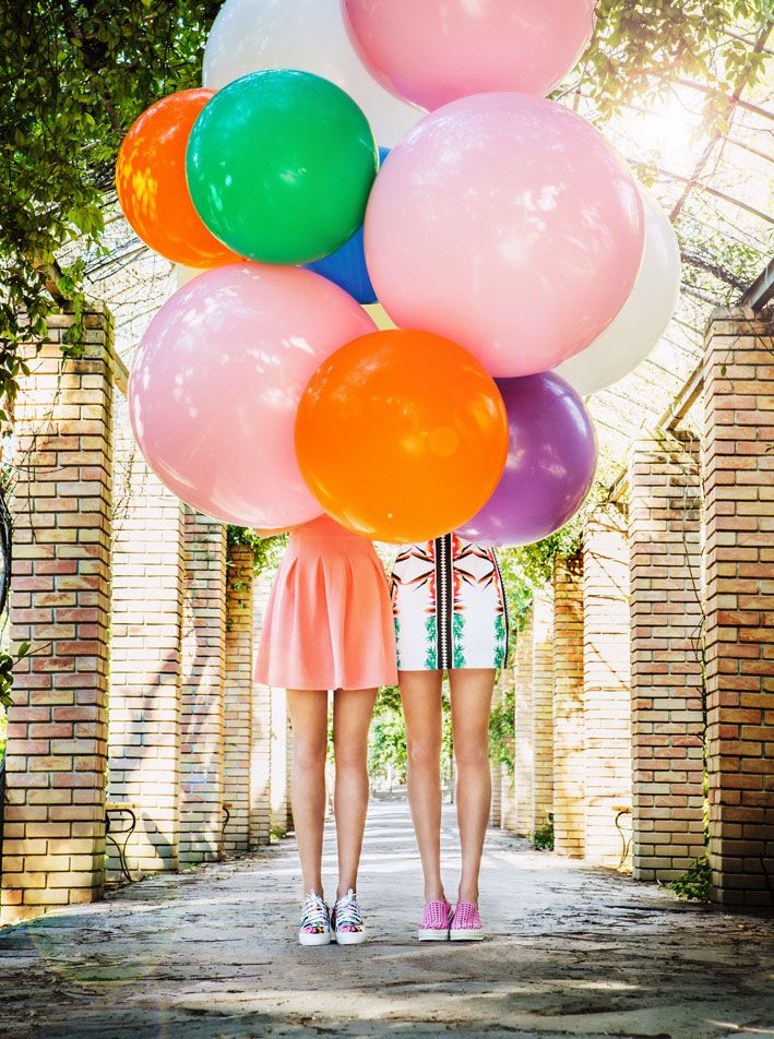New Sneakers are on! #keepfred #fred #sneakers #shoes #outfit #style #fashion #new #collection #spring #colors #balloons #photoshoot #editorial
