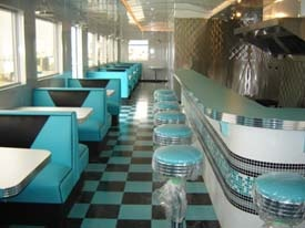 Queens Diner - Alberta, Canada  Restaurant Furniture provided by www.barsandbooths.com