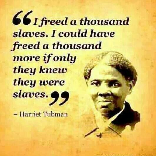 Thanks Harriet! We can say the same today if we doing no better. People have no clue how slow change is thinking its like a drive through window. Change is a lifestyle every second of the day committed. Its not just word deep thoughts it requires action of that committed lifestyle. Yes I'm Black & Proud but its not all that I am. I am connected to all life on mother earths. My seeds of change is committed and hate will never rest in my heart....Christa