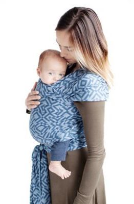 Moby Wrap Petunia Pickle Bottom® for Moby® Wrap Mazes of Milano Baby Carrier in Indigo