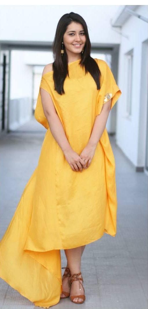 Hot Photoshoot Of Rashi Khanna In Yellow Dress