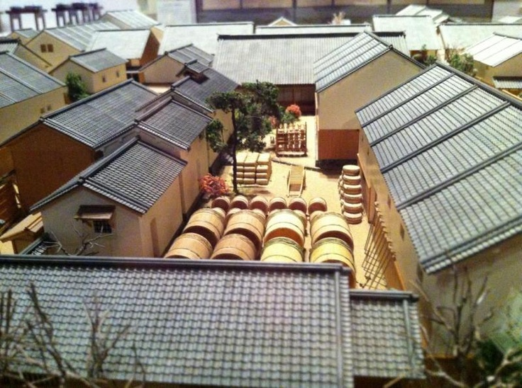 This diorama depicts the traditional industries of rural Ehime at the Museum of History & Culture in Seiyo