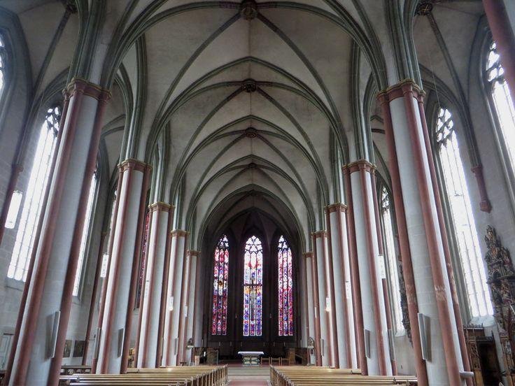 Nef gothique, Überwasserkirche (XVe siècle), Münster, Rhénanie-du-Nord-Westphalie, Allemagne. | .