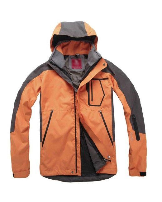 Zipper Long Sleeve Hooded Pockets Men Waterproof Jacket Clothing  Price: $175.36 USD